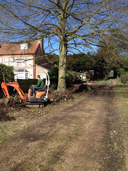 Digger work in Hambledon