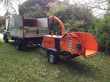 Tree surgeon chipper in Hampshire