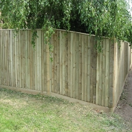 Fencing on sloping land in Swanmore