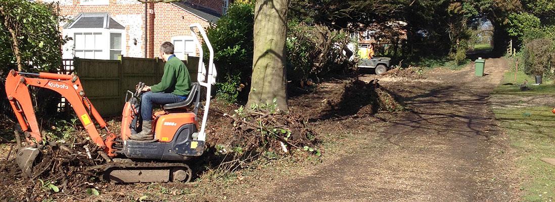 Digger work Hampshire